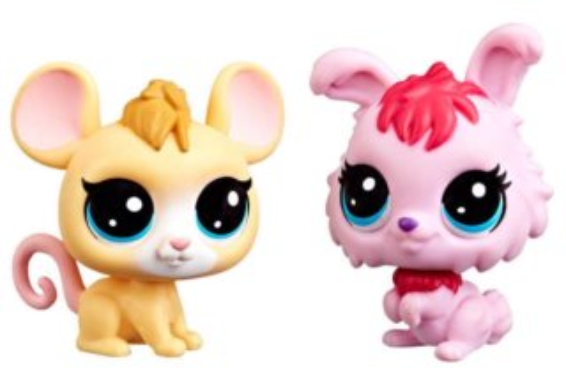 Hasbro Littlest Pet Shop LPS Série 3 Set zvířátek 2 ks (myška a zajíček)