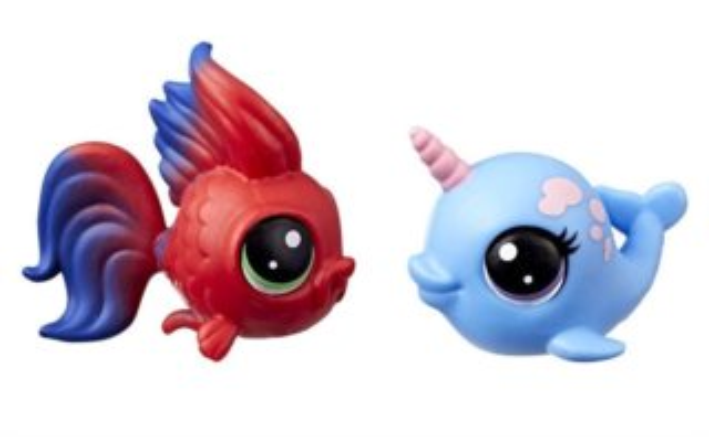 Hasbro Littlest Pet Shop LPS Série 3 Set zvířátek 2 ks (ryba+narval)