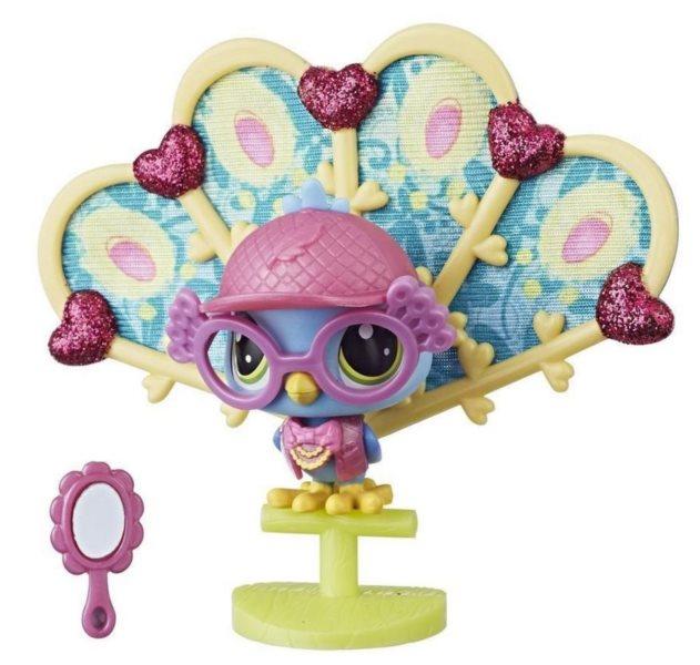 Hasbro Littlest Pet Shop LPS Série 3 Zvířátko páv Roy Peacoat #3-59
