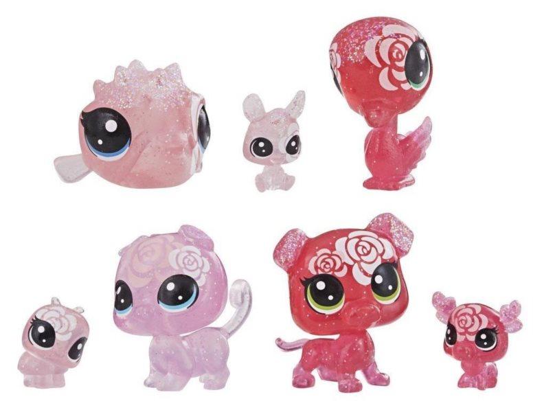 Hasbro Littlest Pet Shop LPS Set květinových zvířátek 7ks (růže)