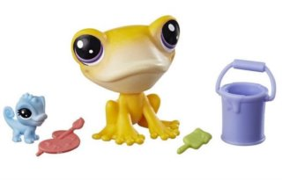 HASBRO LPS Set zvířátek 2 ks (žába a chameleon)