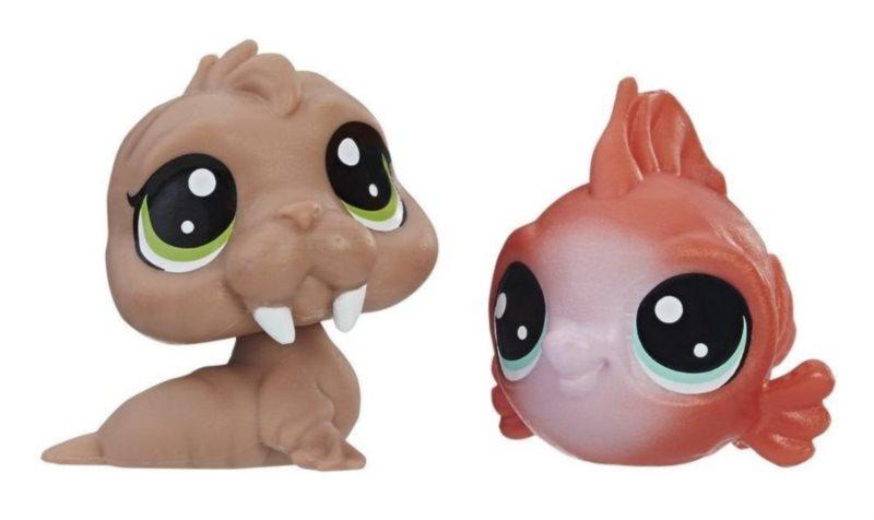Littlest Pet Shop LPS Série 2 Set zvířátek 2 ks (mrož a ryba)