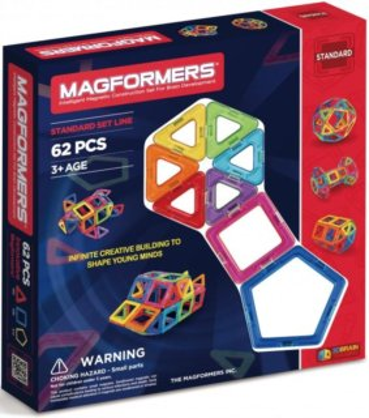 Magnetická stavebnice MAGFORMERS 62 dílků