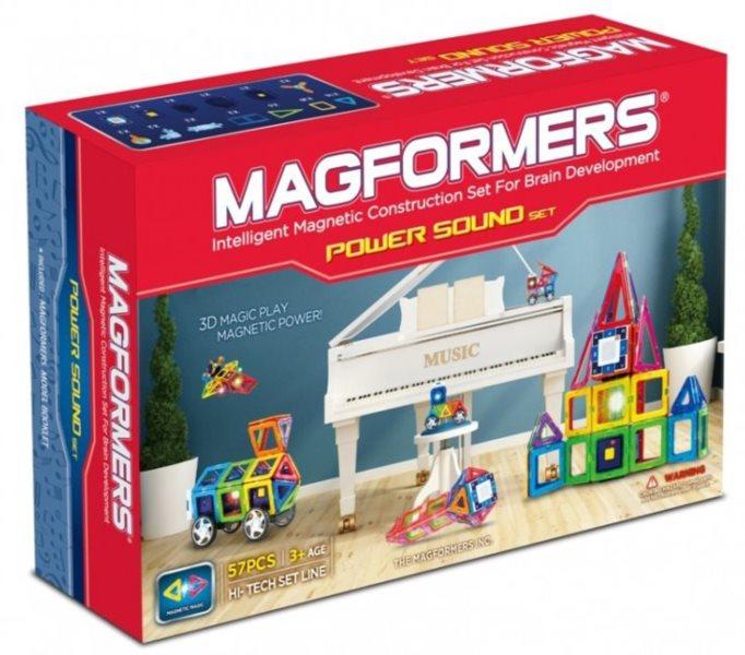 Magnetická stavebnice MAGFORMERS Power Sound set 59 dílků