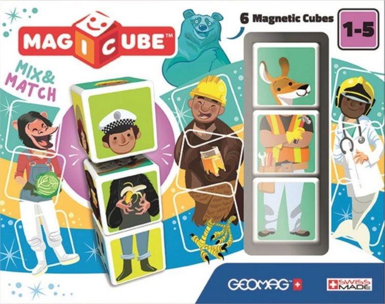 GEOMAG Magnetické kostky Magicube Mix&Match, 6 kostek