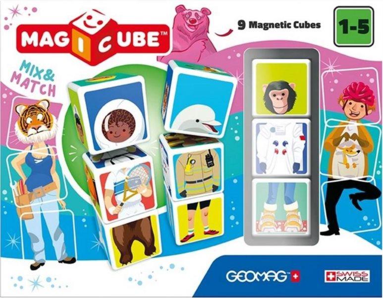 GEOMAG Magnetické kostky Magicube Mix&Match, 9 kostek