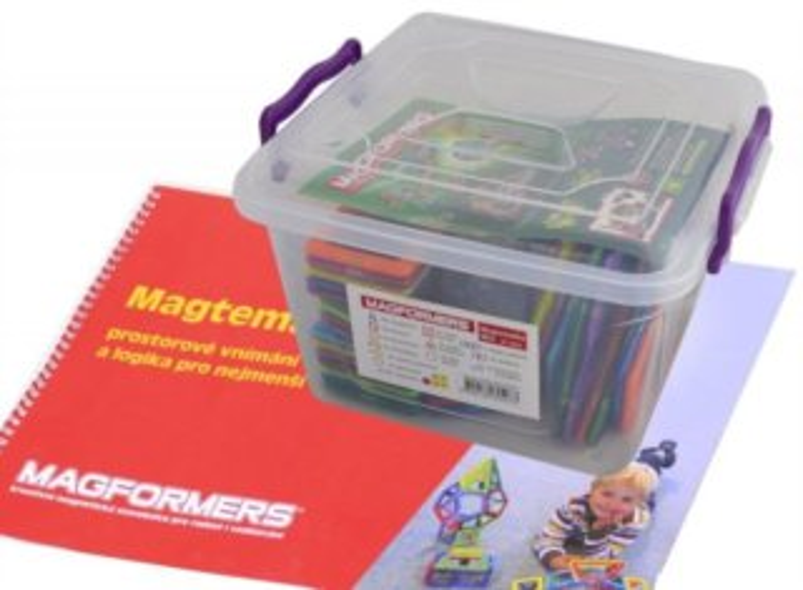 Magnetická stavebnice MAGFORMERS Magtematika v boxu, 67 dílků