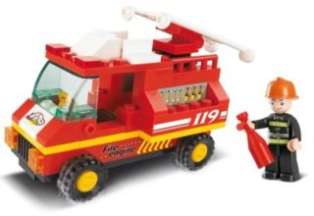 Stavebnice SLUBAN Malé hasičské auto