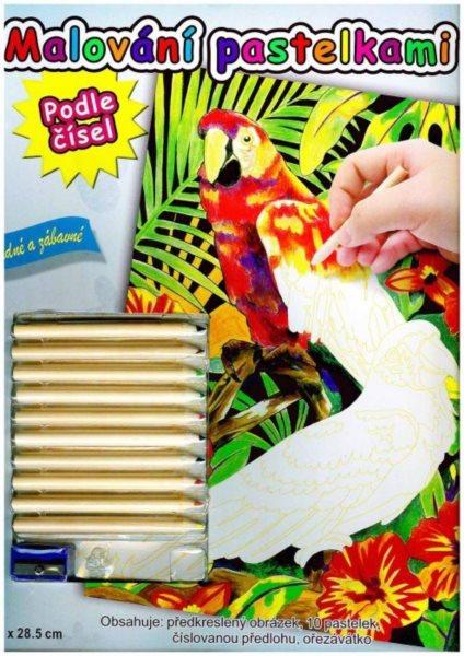 ARTLOVER Malování pastelkami - Papoušci