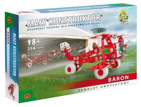 Stavebnice MALÝ KONSTRUKTÉR: Retro letadlo Baron