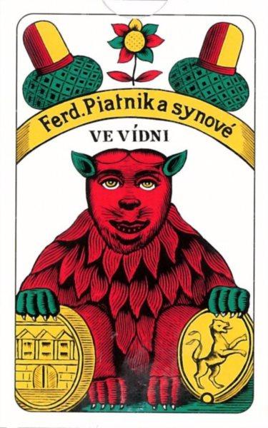 Hrací karty Mariáš - Jednohlavé karty, PIATNIK