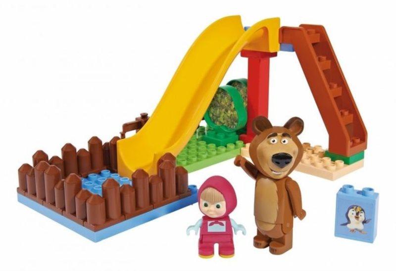 PlayBIG BLOXX Máša a medvěd - Bazén se skluzavkou