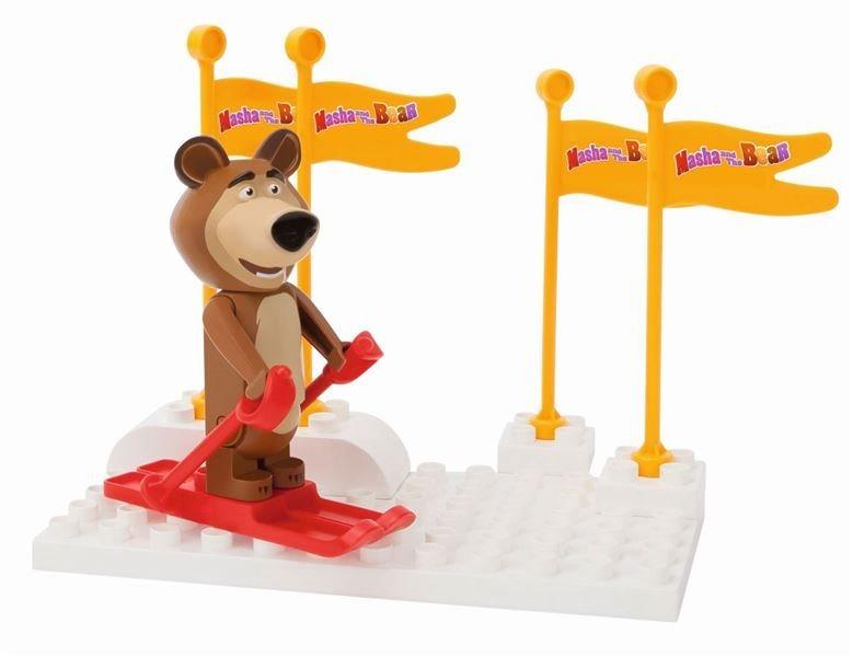 PlayBIG BLOXX Máša a medvěd: Míša na lyžích