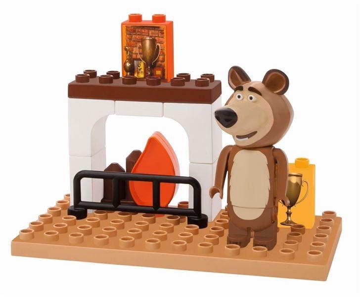 PlayBIG BLOXX Máša a medvěd: Míša u krbu