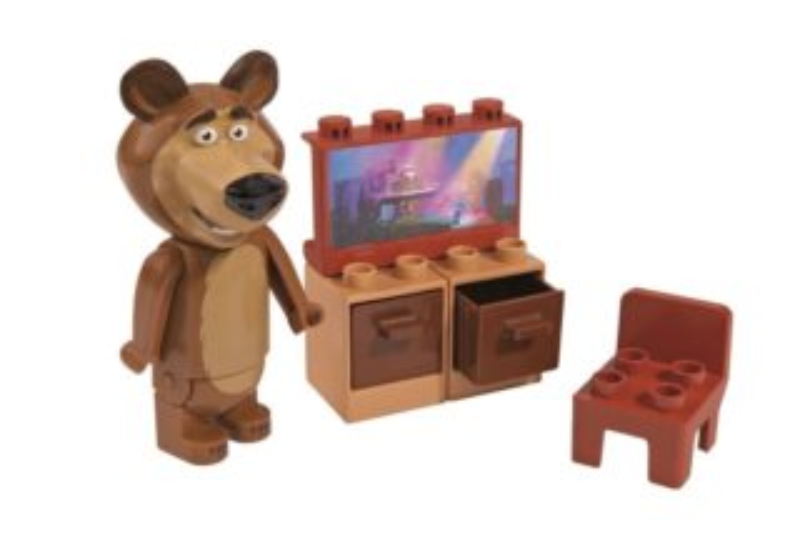 PlayBIG BLOXX Máša a medvěd - Míšova televize