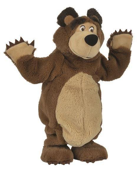 SIMBA TOYS Máša a medvěd: Plyšový tančící medvěd 35 cm