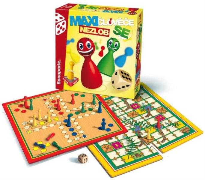 Společenská hra Maxi Člověče, nezlob se, BONAPARTE