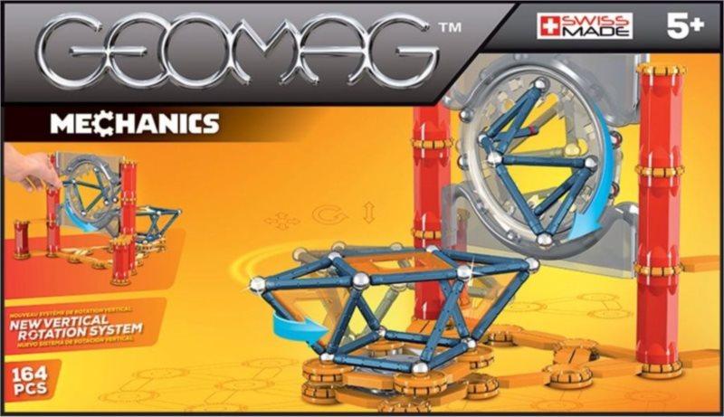 Magnetická stavebnice GEOMAG - Mechanics 164 dílků