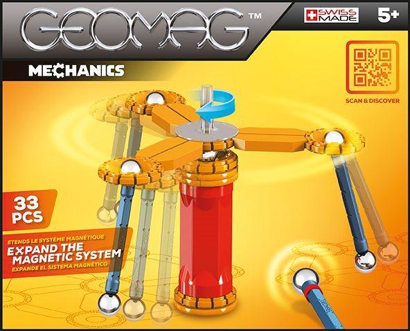 Magnetická stavebnice GEOMAG - Mechanics 33 dílků