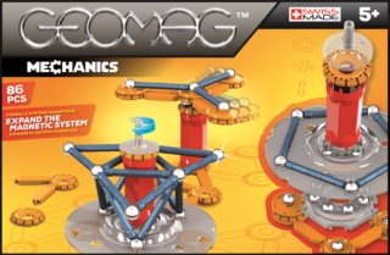 Magnetická stavebnice GEOMAG - Mechanics 86 dílků