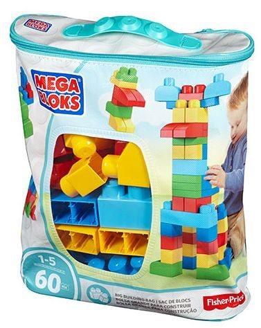 MEGA BLOKS First Builders Modrá sada 60 dílů
