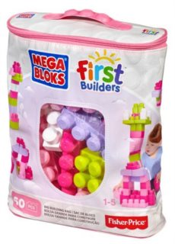 MEGA BLOKS First Builders Růžová sada 60 dílů