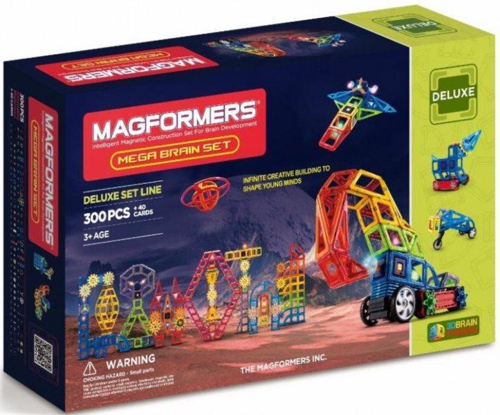 Magnetická stavebnice MAGFORMERS Mega Brain 300 dílků