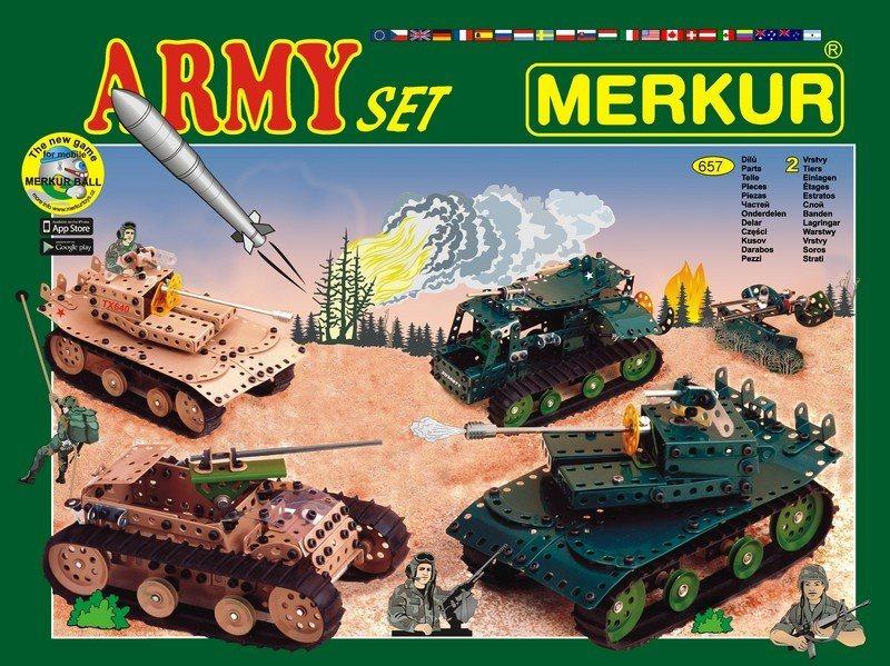 Stavebnice MERKUR M1129 Army Set 657 dílků