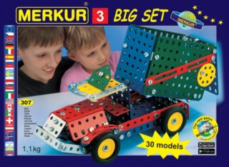 Stavebnice MERKUR M3 Big Set 307 dílků
