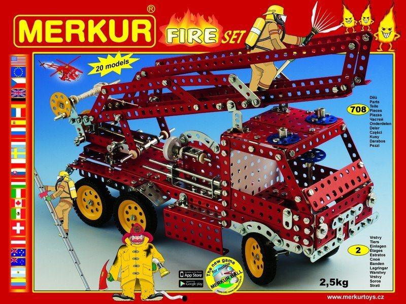 Stavebnice MERKUR M3314 Fire Set 708 dílků