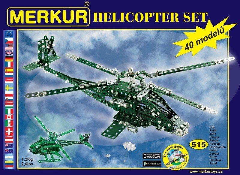 Stavebnice MERKUR M3376 Helicopter Set 515 dílků