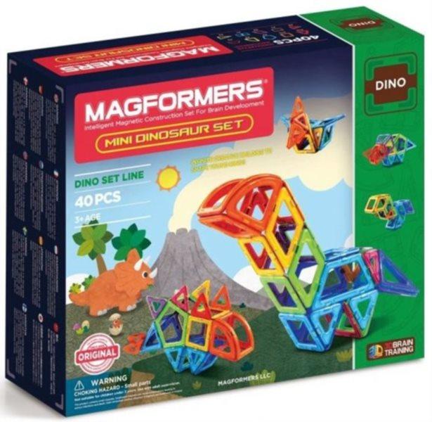 Magnetická stavebnice MAGFORMERS Mini Dinosaur Set