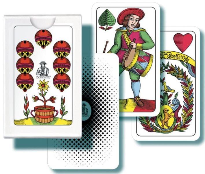 Hrací karty Mini Mariáš - jednohlavé karty, BONAPARTE
