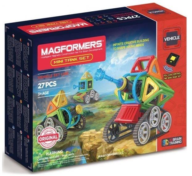 poškozený obal: Magnetická stavebnice MAGFORMERS Mini Tank Set
