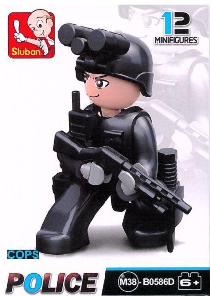 Stavebnice SLUBAN Figurka Policista s nočním viděním