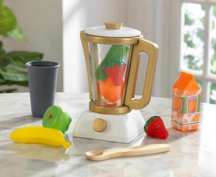 KIDKRAFT Mixér smoothie s příslušenstvím - zlatý
