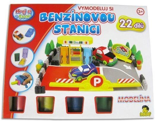 Hrej si & tvoř - MODELÍNA: Benzínová stanice - 22 dílů