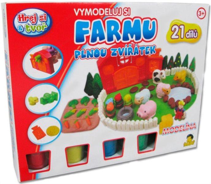 Hrej si & tvoř - Modelovací souprava - Farma plná zvířátek