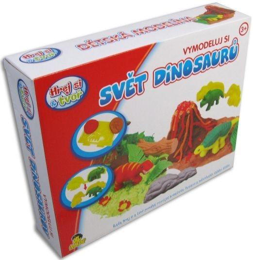Hrej si & tvoř - Modelovací souprava - svět dinosaurů