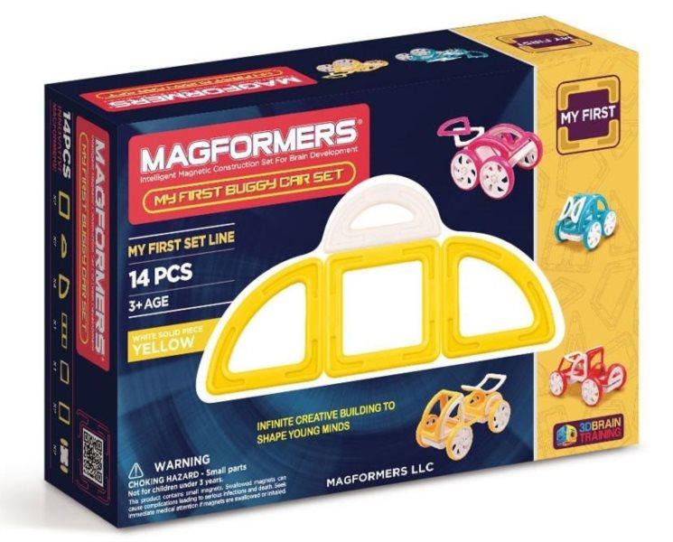 Magnetická stavebnice Moje první bugy žluté 14 dílků