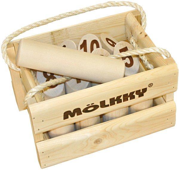 Rodinná hra Mölkky - dřevěné kuželky