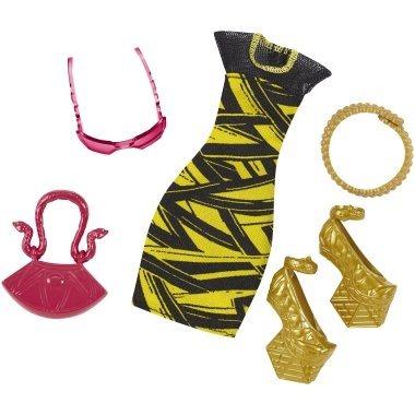 MATTEL Monster High Doplňky s oblečením - zlaté