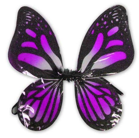 Dětský kostým Motýlí křídla - černofialová, MADE