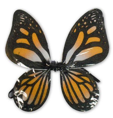 Motýlí křídla - černooranžová