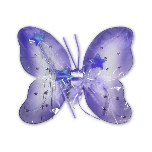 Motýlí křídla - fialová