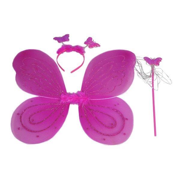Motýlí křídla - růžová
