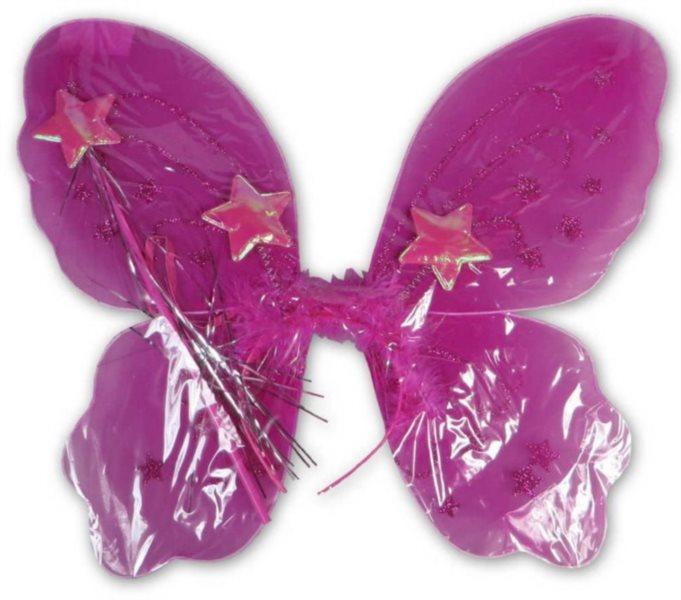Dětský kostým Motýlí křídla - růžová, MADE