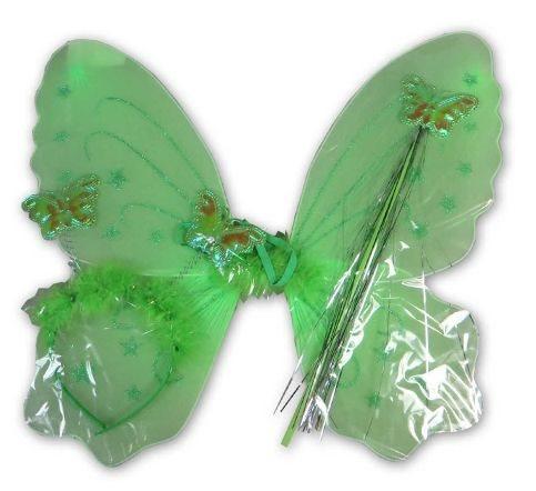 Dětský kostým Motýlí křídla - zelená, MADE
