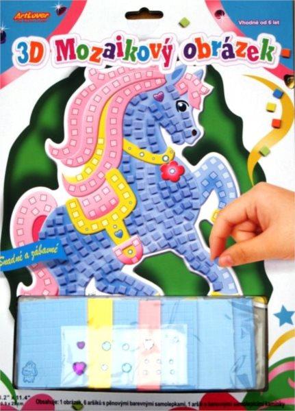 ARTLOVER Mozaikový obrázek - Modrý koník