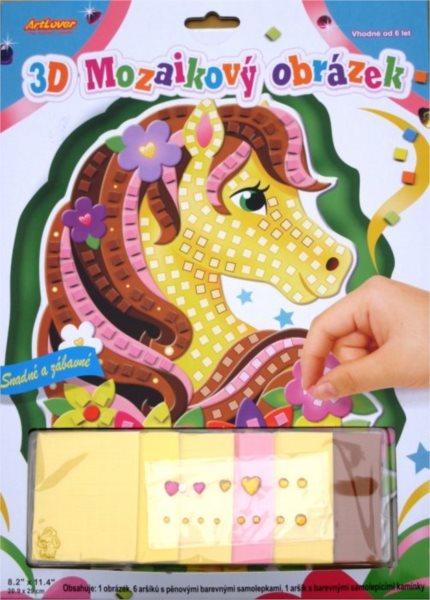 ARTLOVER Mozaikový obrázek - Žlutý koník